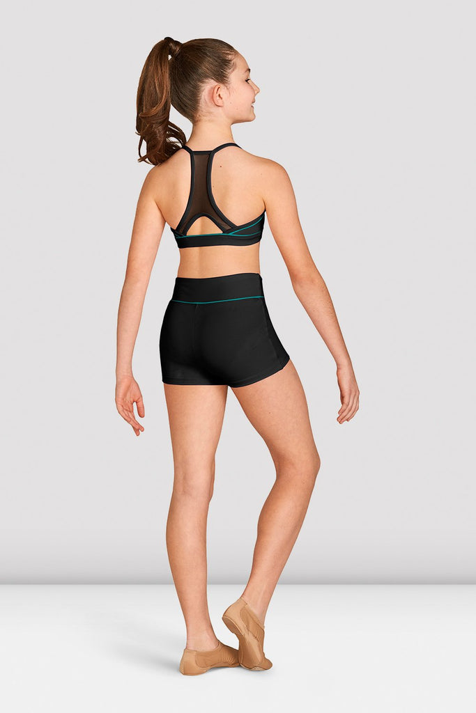 Girls Contrast Piping Racer Back Crop Top - BLOCH US