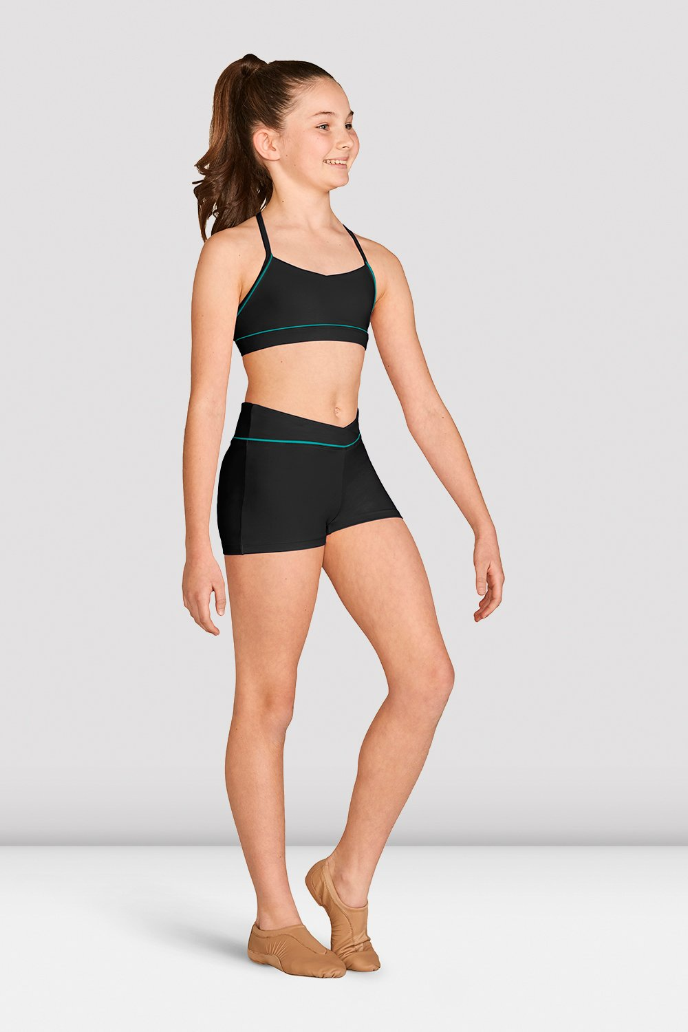 Girls Contrast Piping Short - BLOCH US