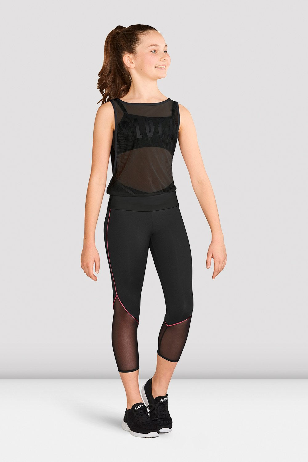 Girls Bloch Sheer Mesh Top - BLOCH US