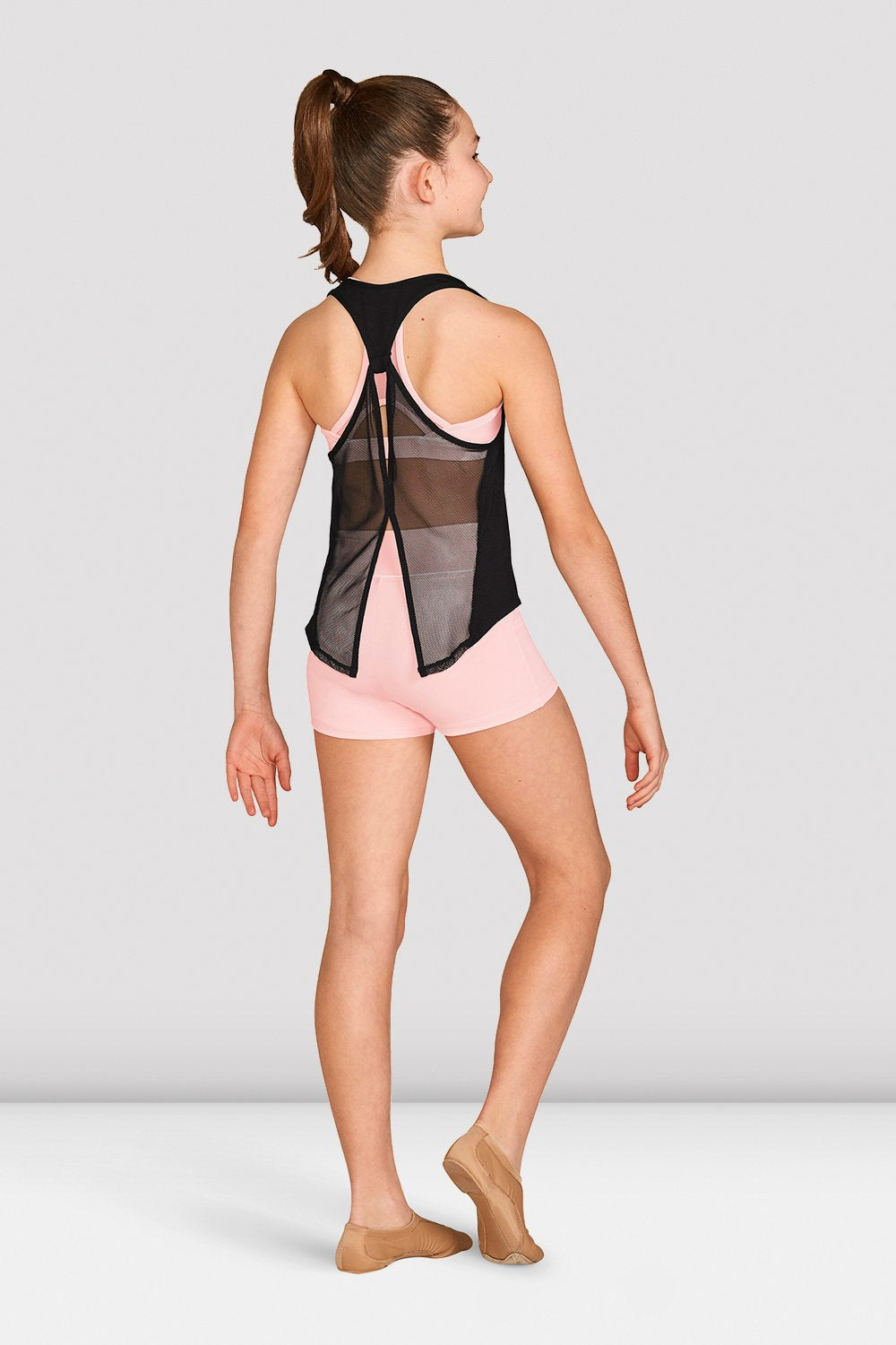 Girls Mesh Tie Back Tank Top - BLOCH US