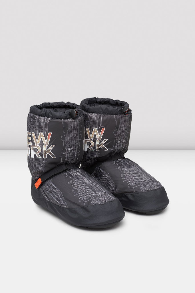 New York City Map Multi-function Warm Up Booties - BLOCH US