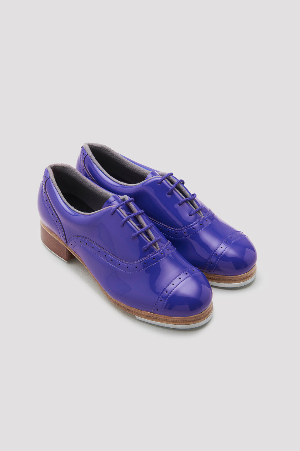 Dark blue patent Bloch Ladies Jason Samuels Smith Patent Tap Shoes pair of shoes flatlay