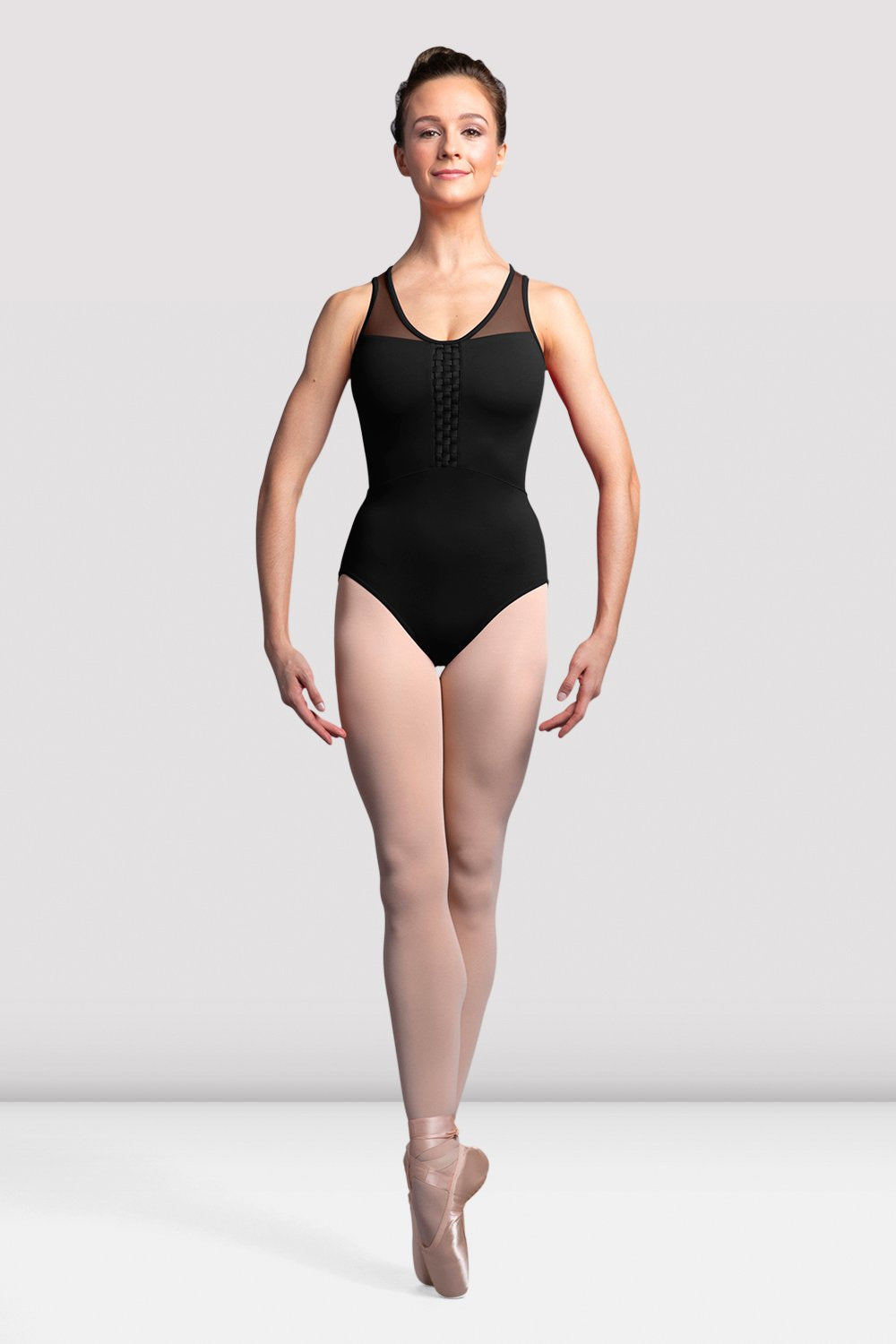 Girls Amita Mesh Back Tank Leotard - BLOCH US