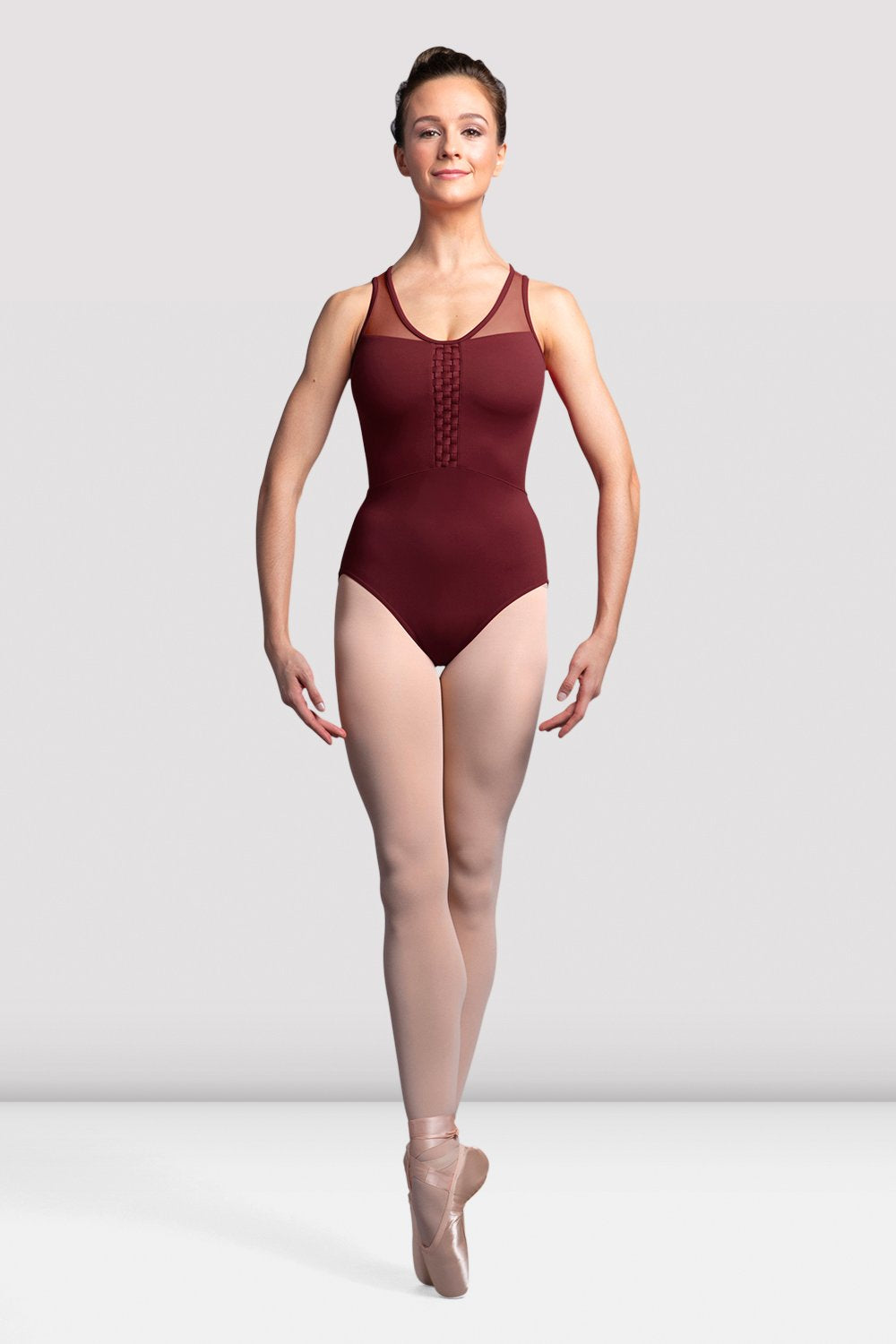 Ladies Amita Mesh Back Tank Leotard - BLOCH US