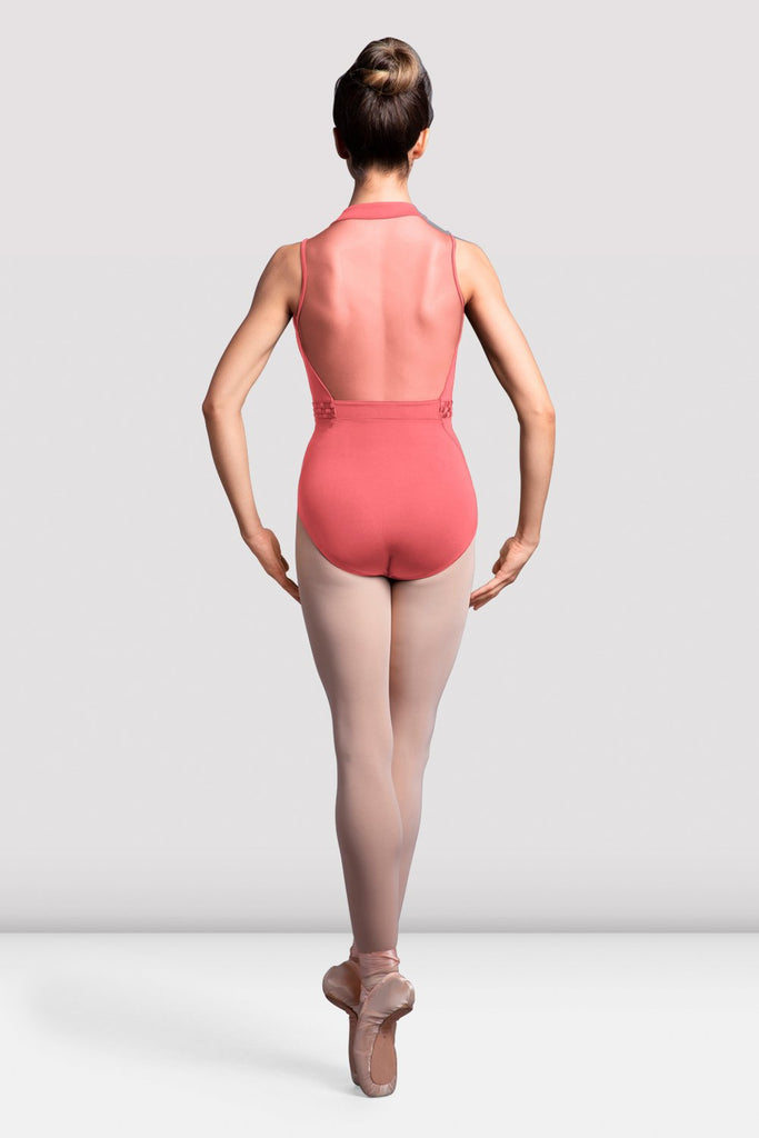 Ladies Elmira High Neck Mesh Back Leotard - BLOCH US