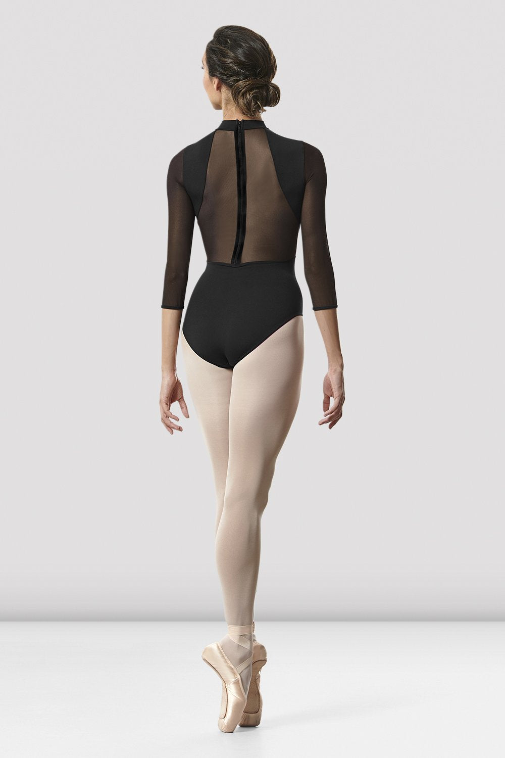 Ladies Ligia Mesh Back Long Sleeve Leotard - BLOCH US