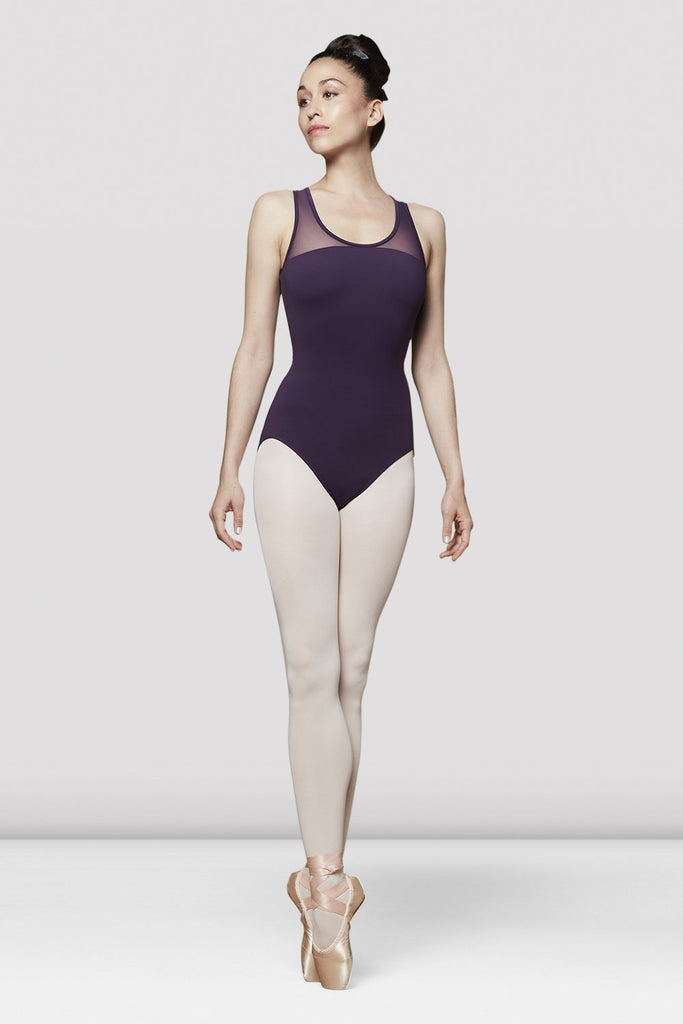 Ladies Alya Mesh Back Tank Leotard - BLOCH US