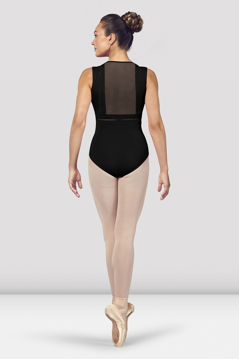 Ladies Zahra V Neckline Mesh Back Tank Leotard - BLOCH US
