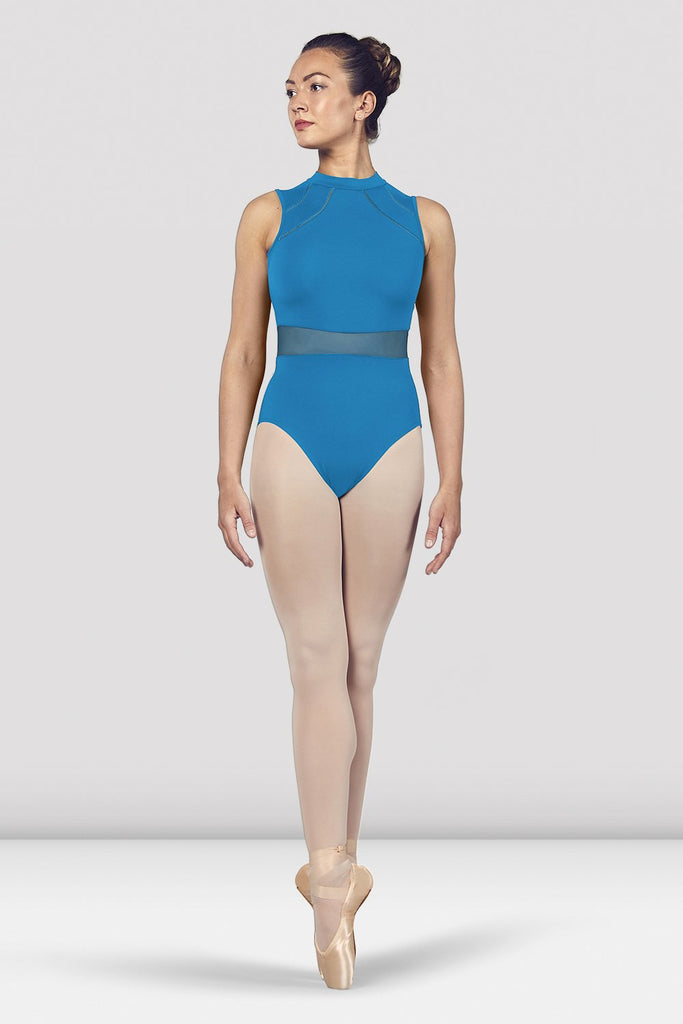 Ladies Solene High Neckline Open Back Tank Leotard - BLOCH US