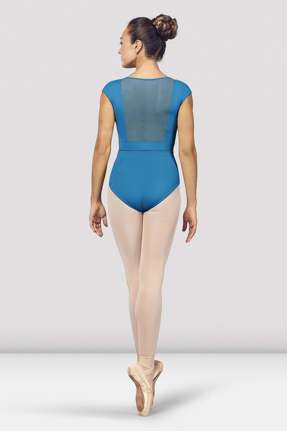 Ladies Kalila V Neckline Mesh Back Cap Sleeve Leotard - BLOCH US