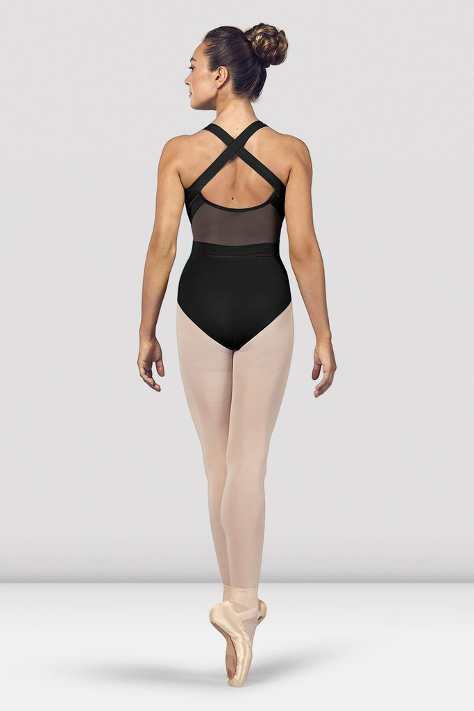 Ladies Marion Scoop Neckline Cross Back Tank Leotard - BLOCH US