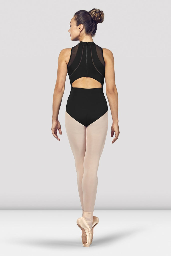 Ladies Loanne High Neckline Zip Open Back Halter Leotard - BLOCH US