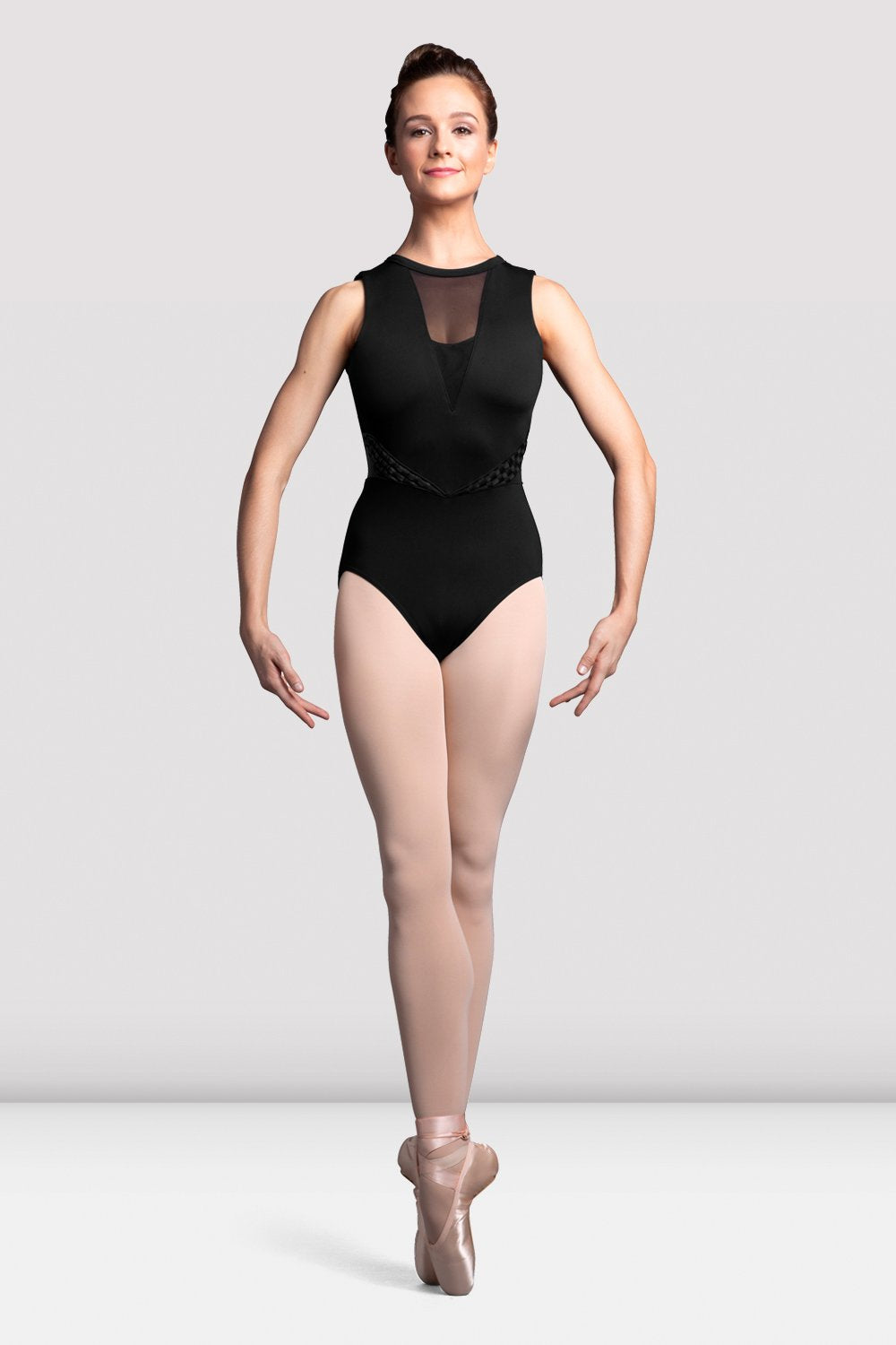 Ladies Boutique Weave Trim Tank Leotard - BLOCH US