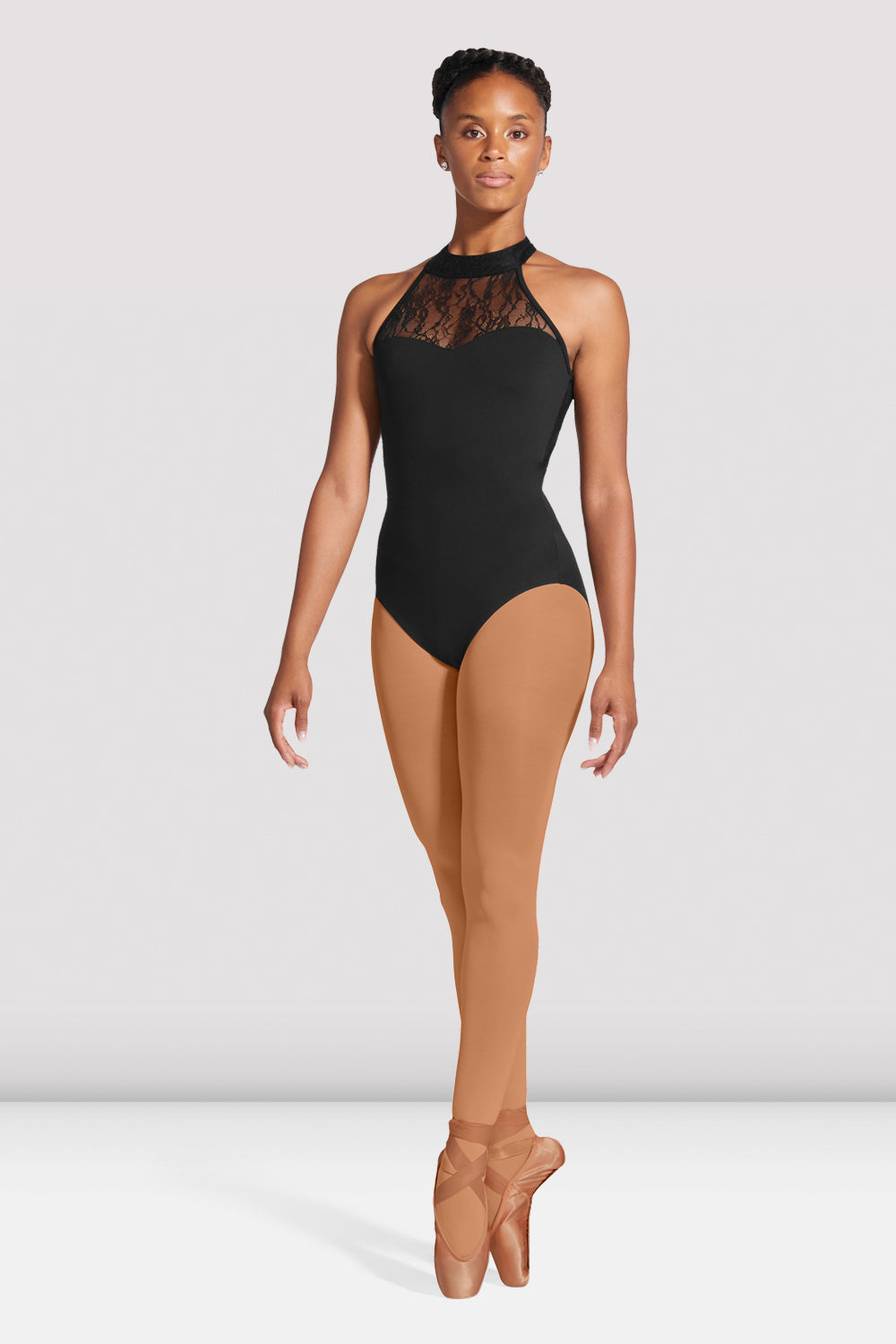 Ladies Ebo Lace Halter Leotard - BLOCH US