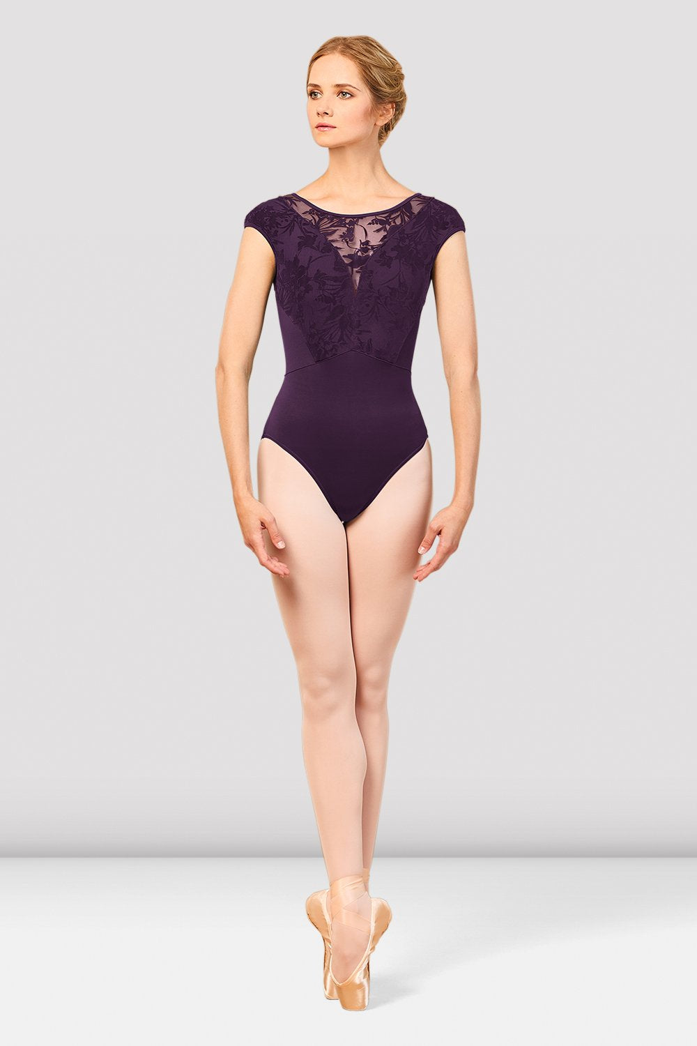 Ladies Cosmo Open Back Cap Sleeve Leotard - BLOCH US