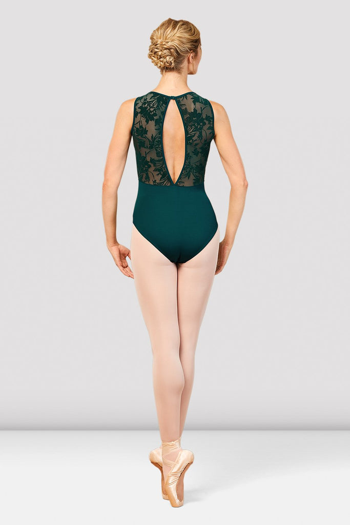 Ladies Cosima V Neckline Open Back Leotard - BLOCH US