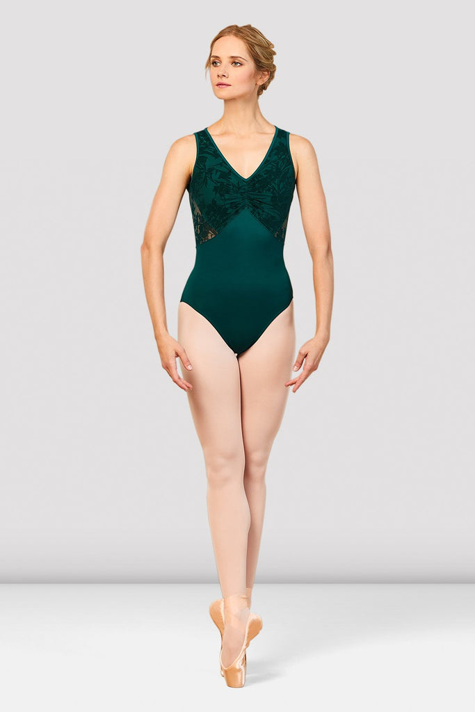 Girls Cosima V Neckline Open Back Leotard - BLOCH US