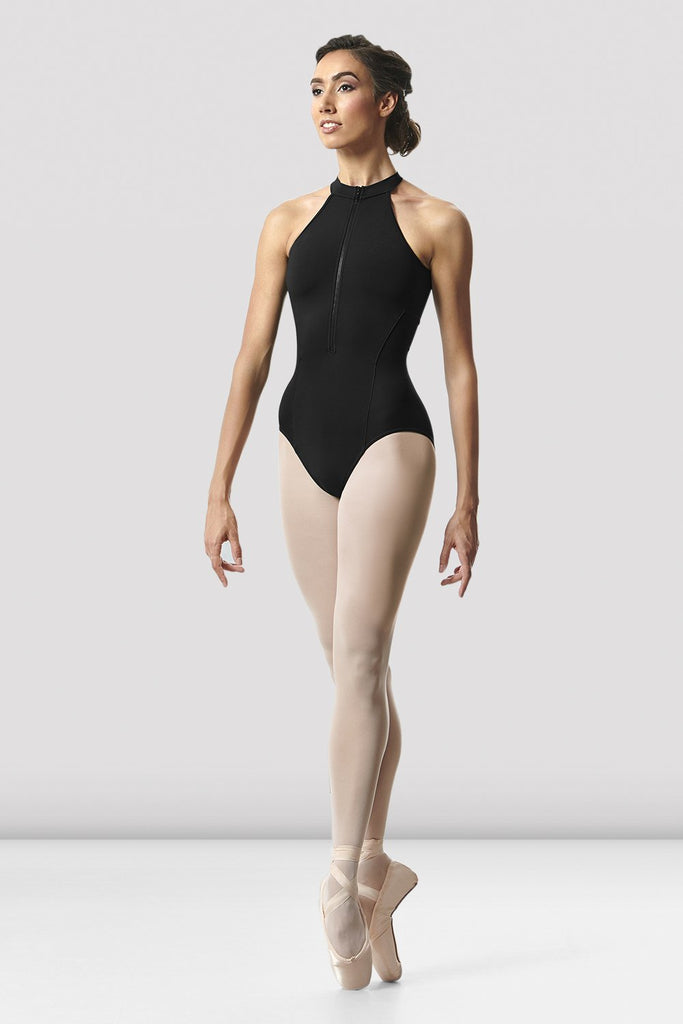 Ladies Rhode Zip Front Open Back Leotard - BLOCH US