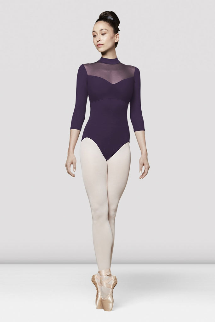 Ladies Faye Three Quarter Length Sleeve Leotard - BLOCH US