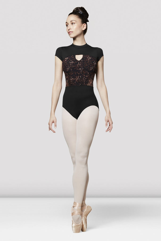 Ladies Uma High Neck Cap Sleeve Leotard
