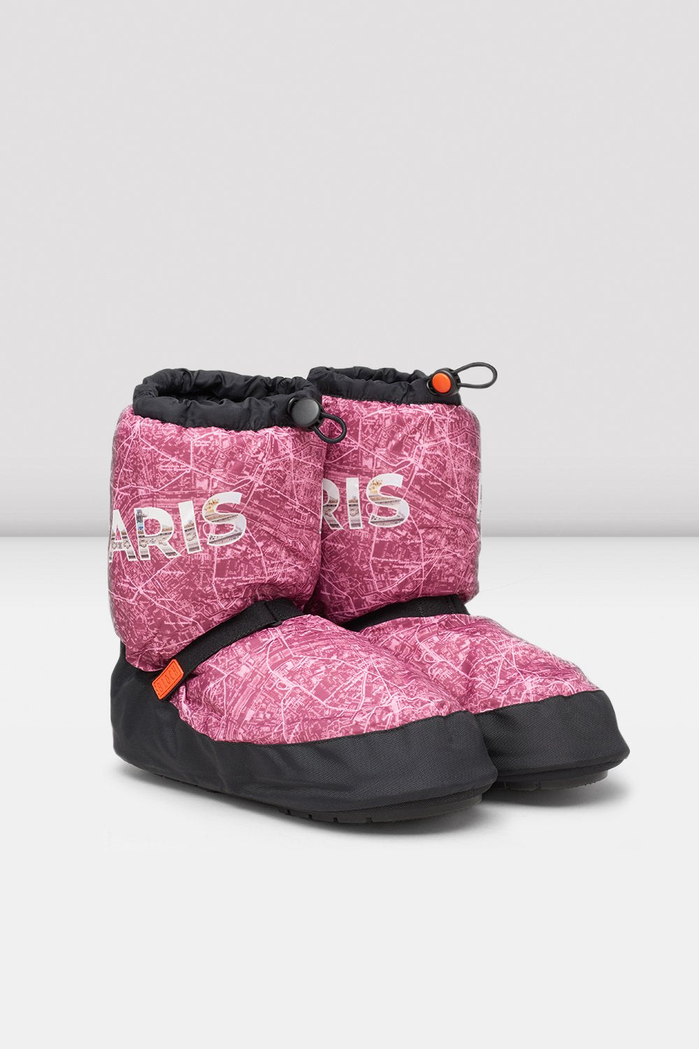 Paris City Map Multi-function Warm Up Booties - BLOCH US