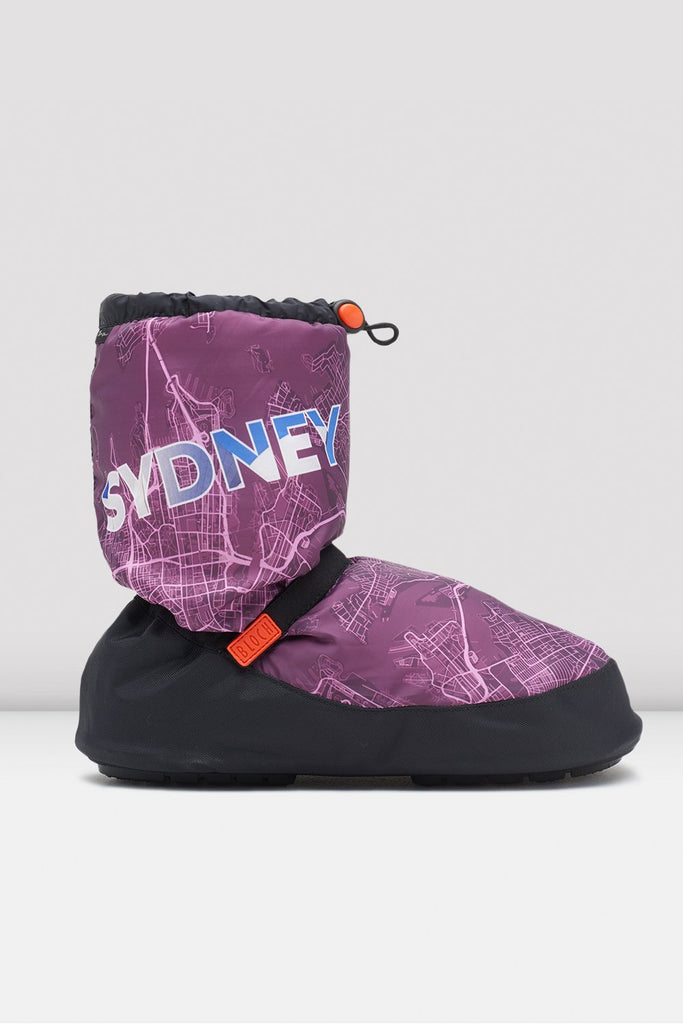 Bloch Sydney City Map Multi-function Warm Up Booties single shoes side view