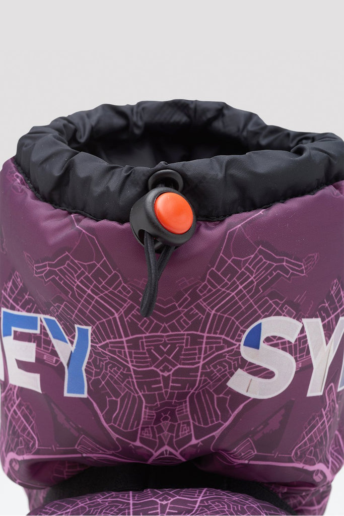 Sydney City Map Multi-function Warm Up Booties - BLOCH US