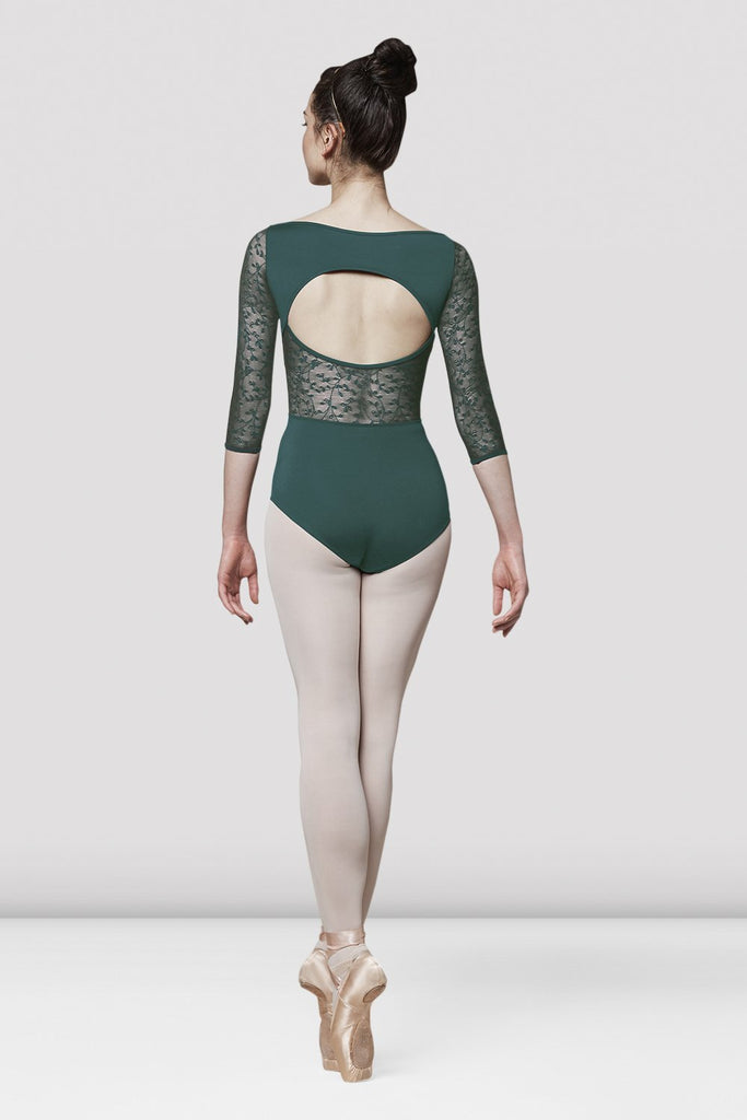 Ladies Mirella Olivinia Princess Lace Sleeve Leotard - BLOCH US