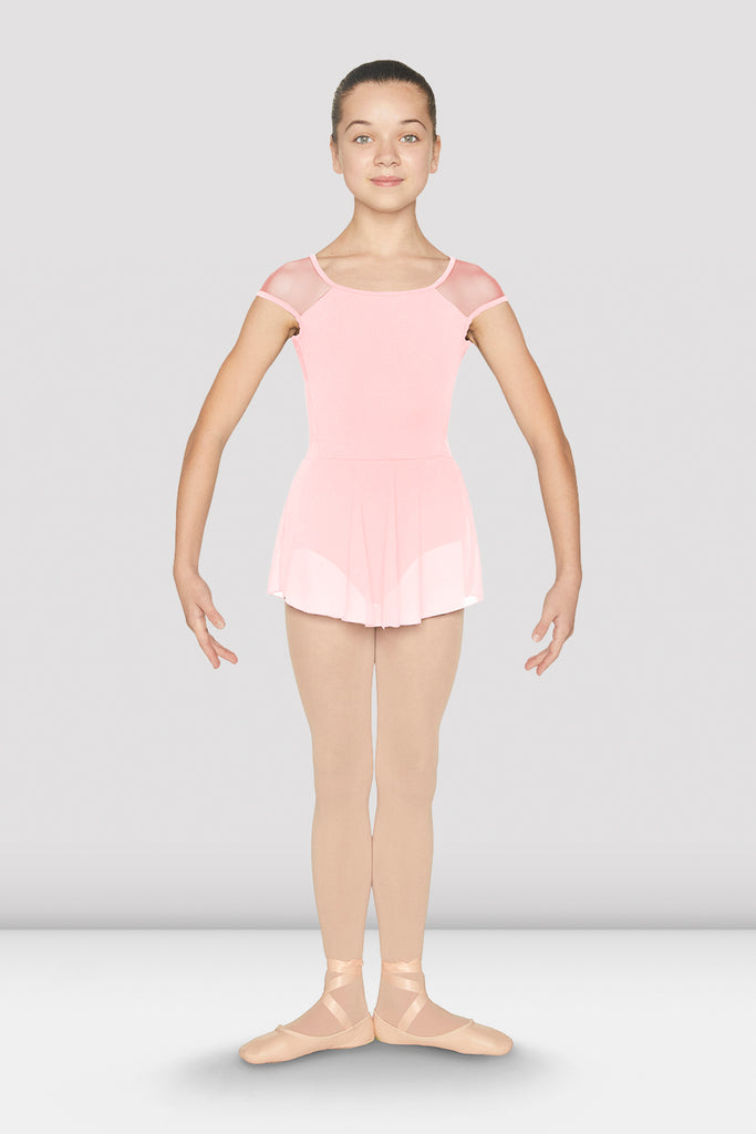 Girls Open Back Cap Sleeve Skirted Leotard - BLOCH US