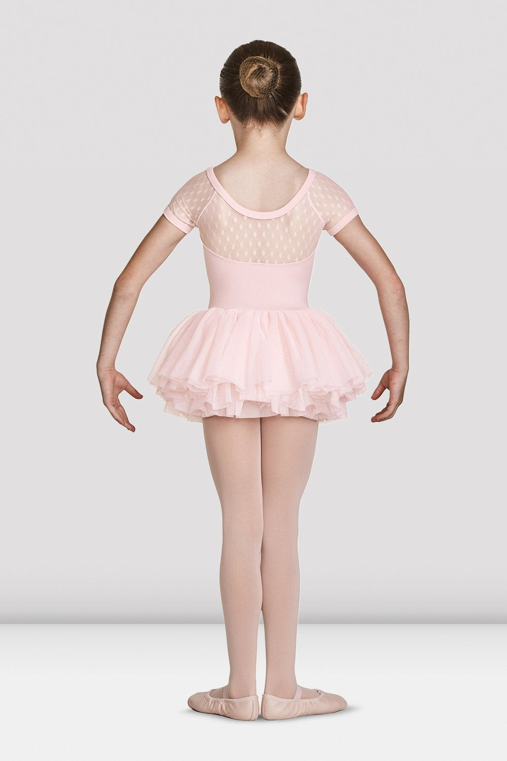 Girls Mirella Gathered Neckline Cap Sleeve Tutu Leotard - BLOCH US