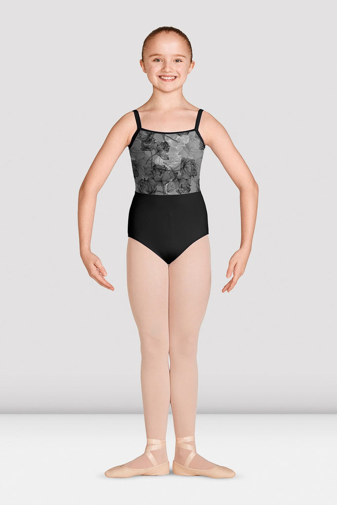 Girls Jasmine Print Camisole Leotard - BLOCH US