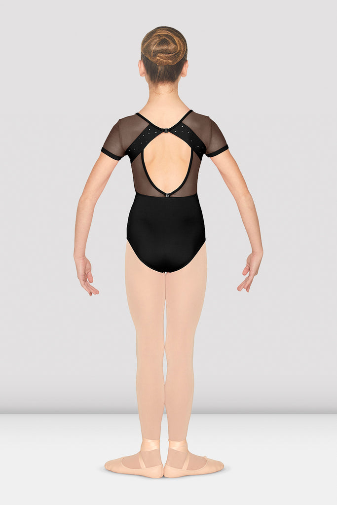 Girls V Neckline Open Back Cap Sleeve Leotard - BLOCH US