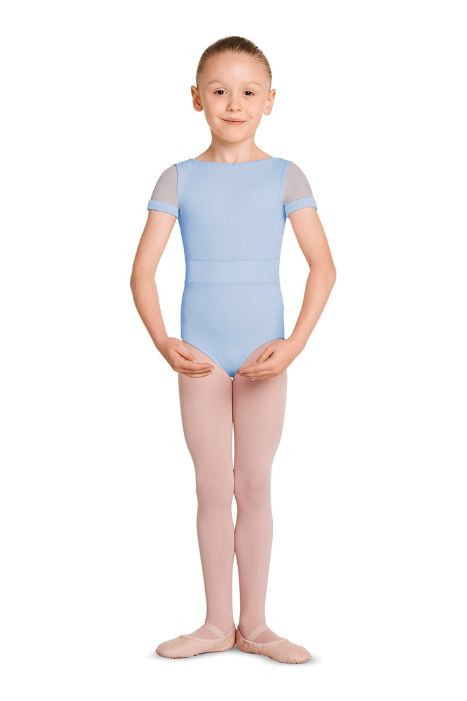 Girls Mirella Velvet Bodice Short Sleeve Leotard - BLOCH US
