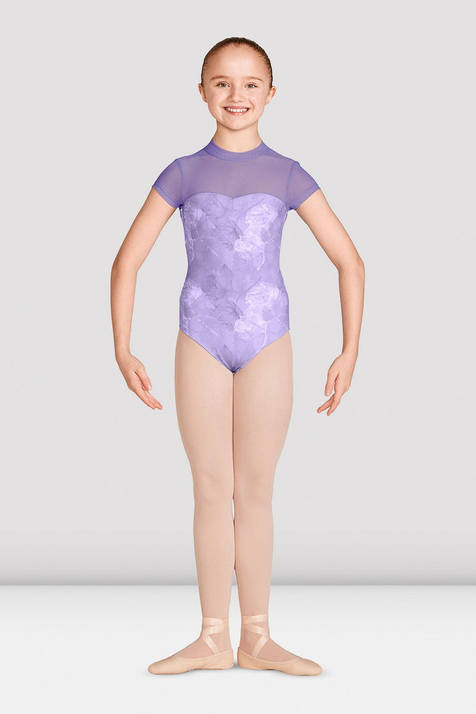 Girls Jasmine Cap Sleeve Open Back Leotard - BLOCH US