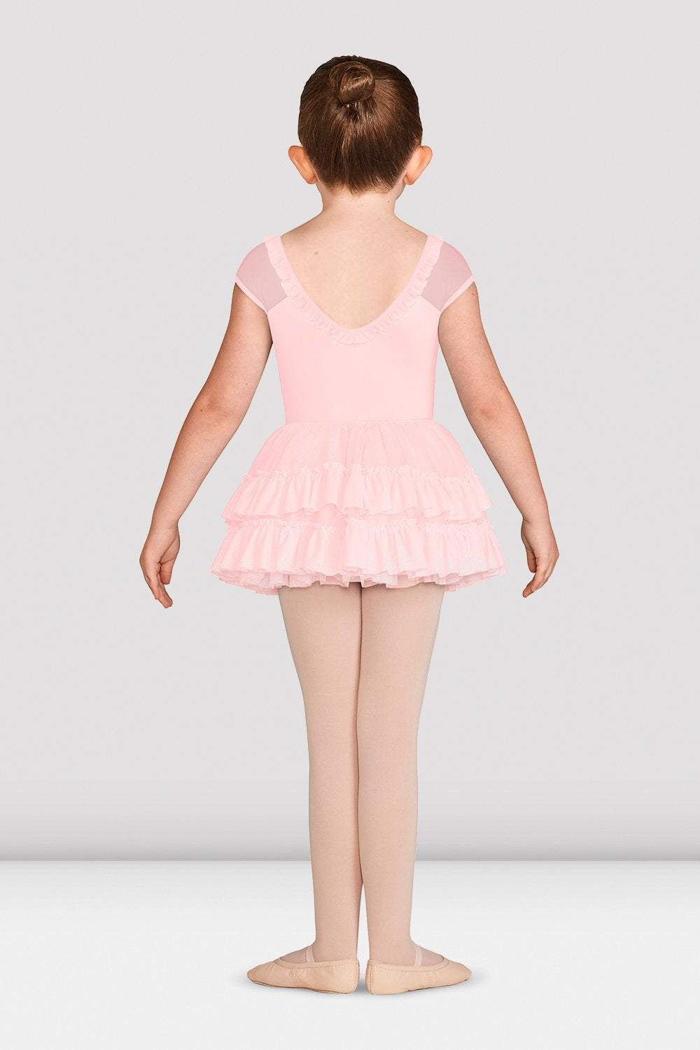 Girls Mirella Vienna Glitter Mesh Detail Leotard - BLOCH US
