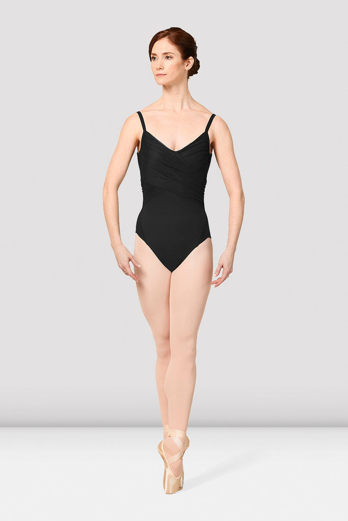 Ladies Mirella Vienna Mesh Wrap Front Leotard - BLOCH US