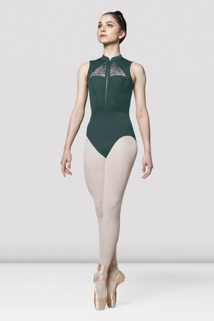 Ladies Mirella Olivinia Lace Back Leotard - BLOCH US