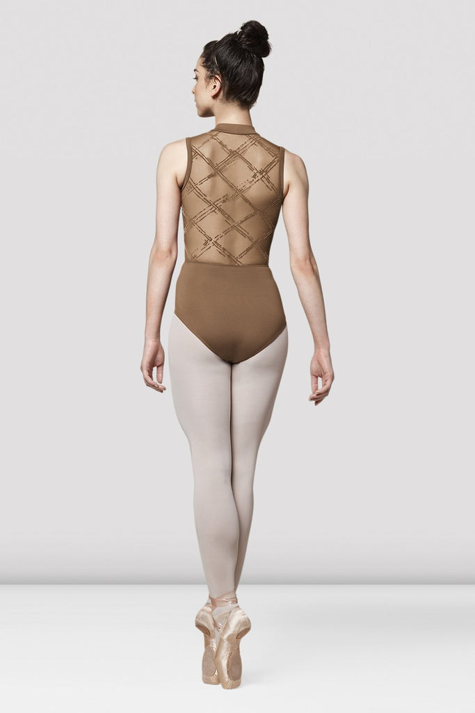 Ladies Mirella Messina High Neck Open Back Leotard
