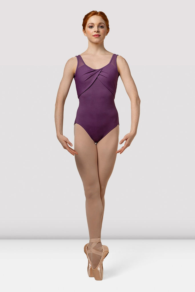Ladies Mirella Splice Wrap Front Tank Leotard - BLOCH US