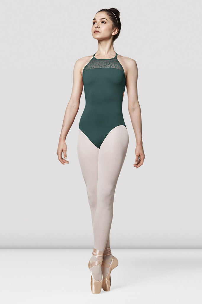 Ladies Mirella Lace Back Strap Leotard - BLOCH US