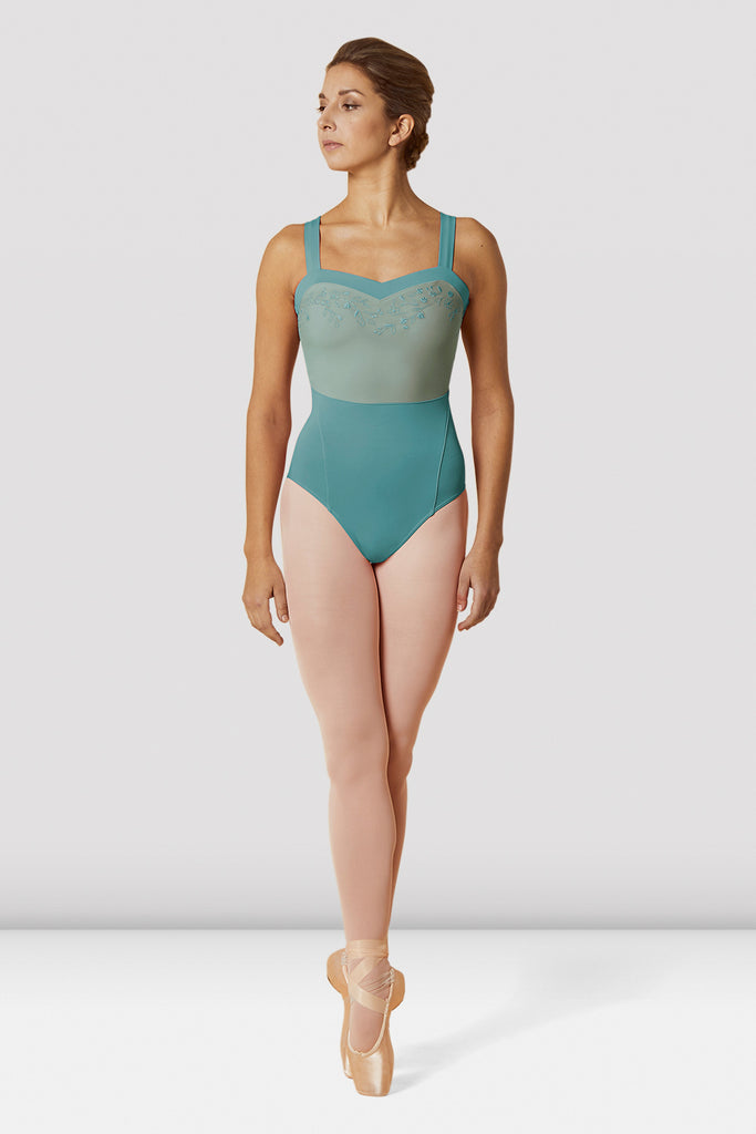 Ladies Mirella Open Back Sweetheart Wide Strap Leotard - BLOCH US