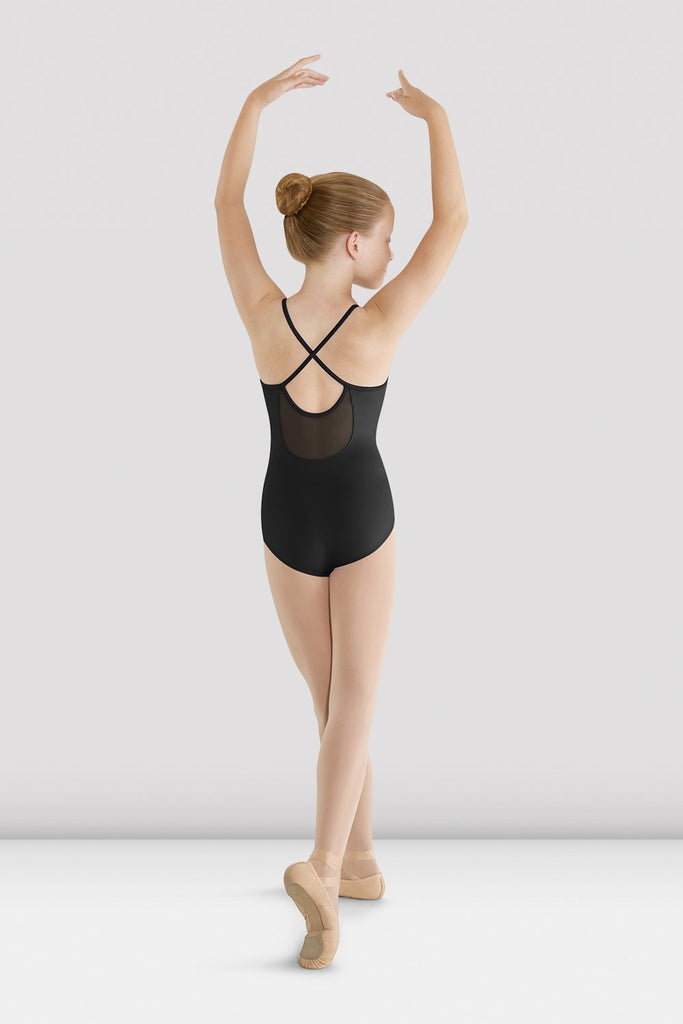 Girls Mirella Mesh Cross Back Leotard