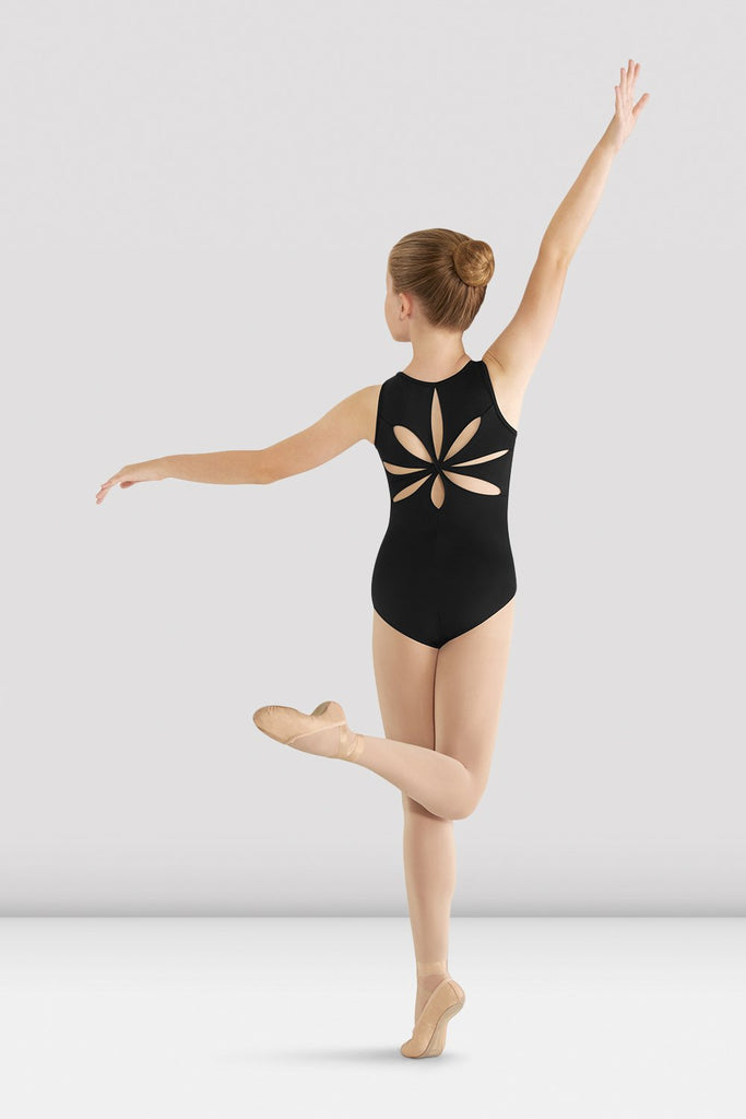 Girls Mirella Flower Back Leotard - BLOCH US