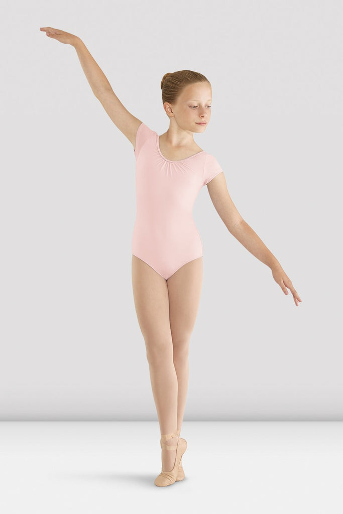 Girls Mirella Bow Cap Sleeve Leotard - BLOCH US