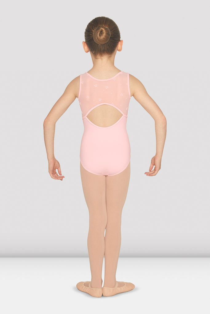 Girls Gathered Open Back Tank Leotard