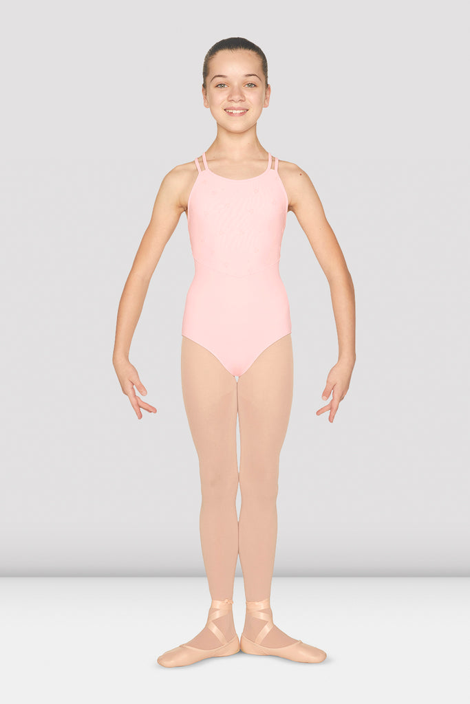 Girls Double Cross Strap Tank Leotard - BLOCH US