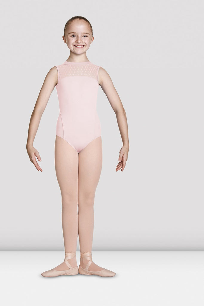 Girls Mirella High Neckline Open Back Tank Leotard - BLOCH US