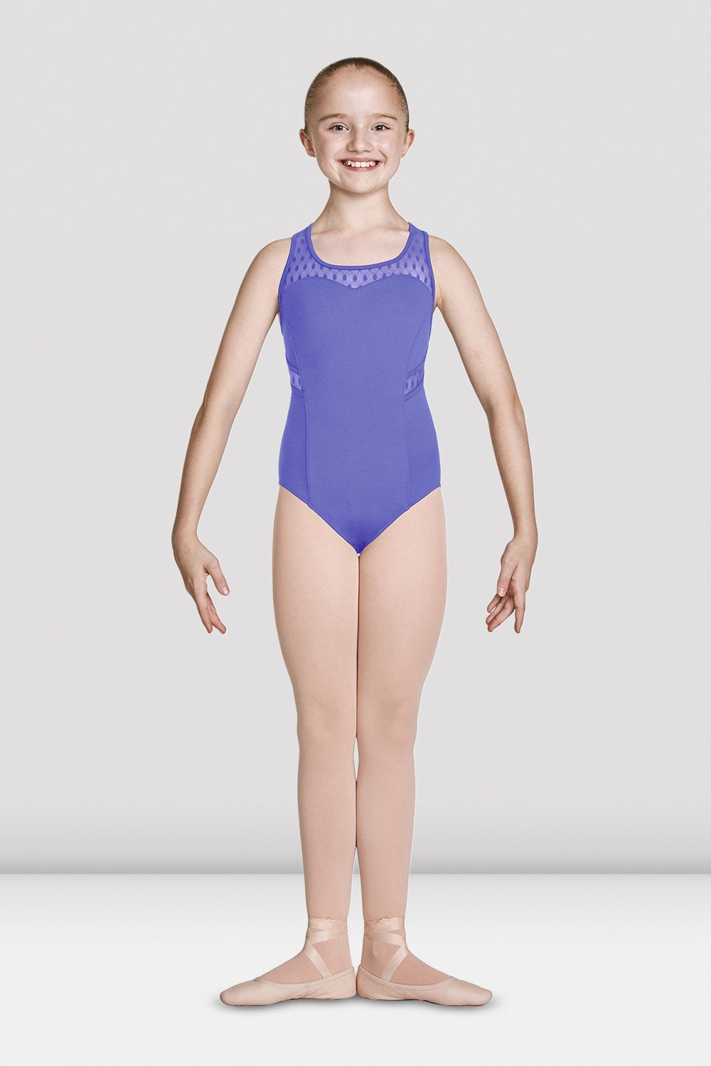 Girls Mirella Diamante Detail Racer Back Tank Leotard - BLOCH US