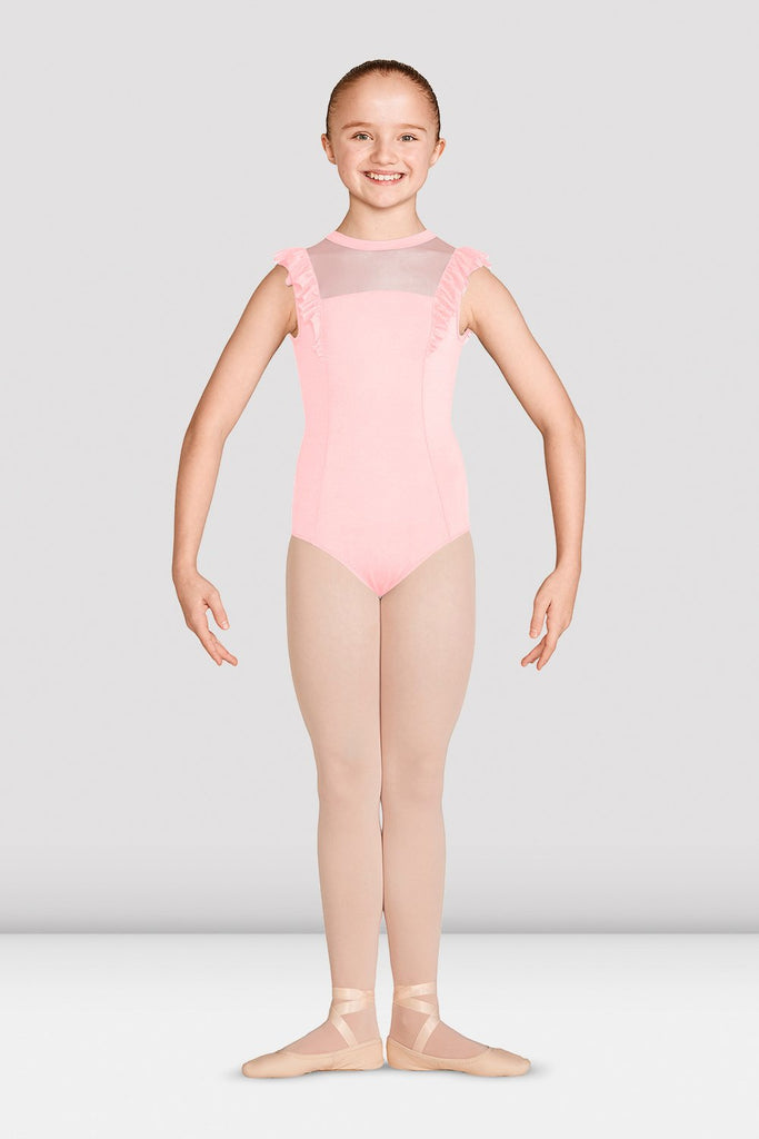 Girls Mirella Vienna High Neck Open Back Leotard - BLOCH US
