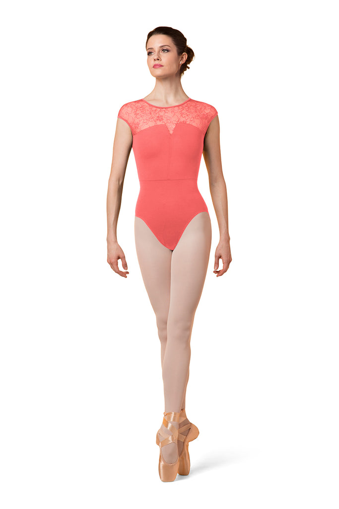 Ladies Mirella Zip Back Lace Leotard - BLOCH US